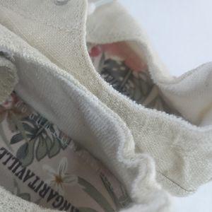 Margaritaville Comfort Lace-Up Canvas Shoe, Natural Metallic Size 7